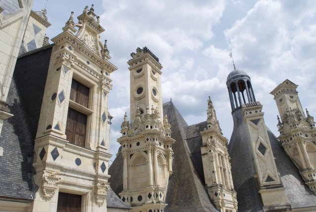 terras-van-Chambord De kastelen van de Loire: op reis met een kind