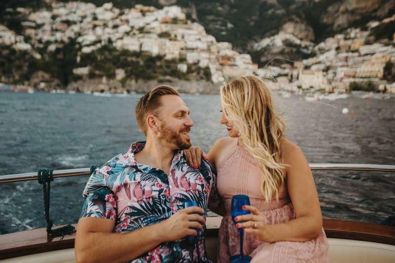Positano Amalfi Coast Italy Engagement elopement