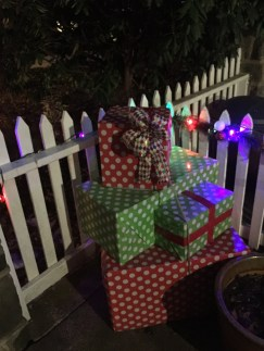Patio with gifts