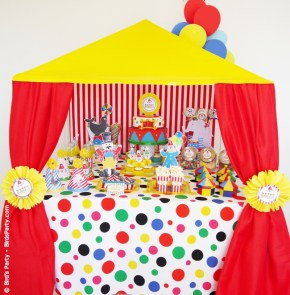 big top circus birthday carnival party cake cupcake clown animal ring ideas party printables supplies partyware party paperie stationery0101