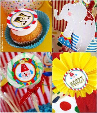 big top circus birthday carnival party cake cupcake clown animal ring ideas party printables supplies partyware party paperie stationery0103