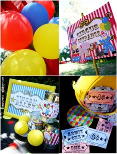 big top circus birthday carnival party cake cupcake clown animal ring ideas party printables supplies partyware party paperie stationery0106
