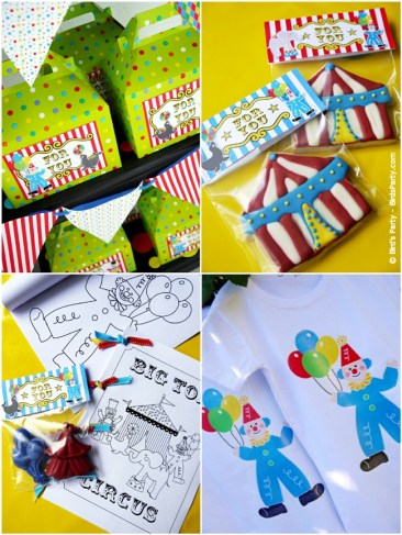 big top circus birthday carnival party cake cupcake clown animal ring ideas party printables supplies partyware party paperie stationery0108