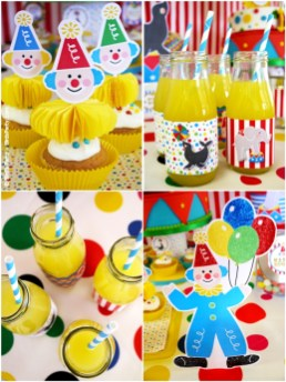 big top circus birthday carnival party cake cupcake clown animal ring ideas party printables supplies partyware party paperie stationery0111