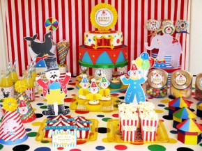 big top circus birthday carnival party cake cupcake clown animal ring ideas party printables supplies partyware party paperie stationery0114