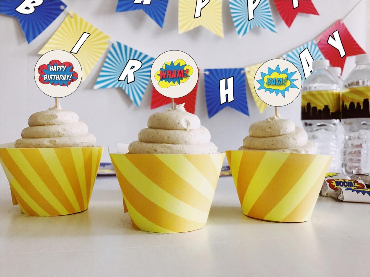 Bold theme cupcakes