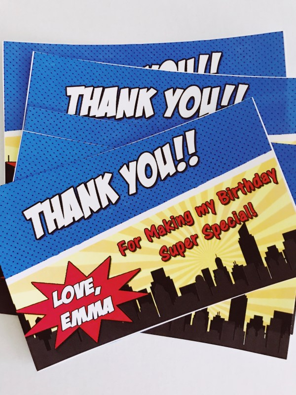 Super Hero Thank You Card