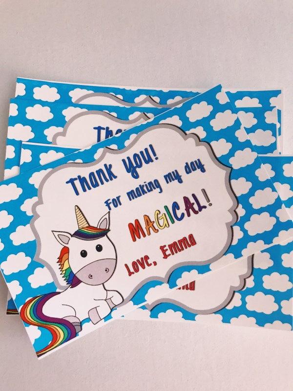 Unicorn TY Cards
