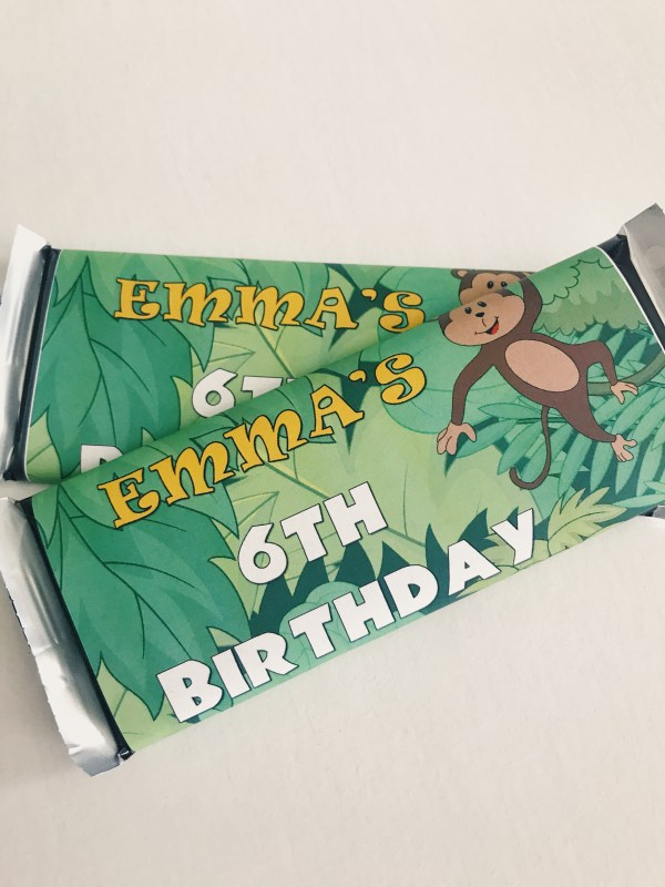 Jungle Candy Bar Wrapper