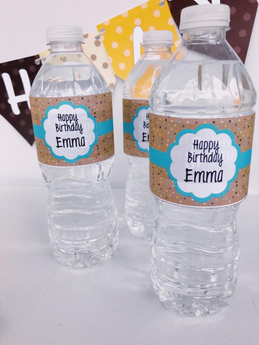 Forest Friends Water Bottle Labels
