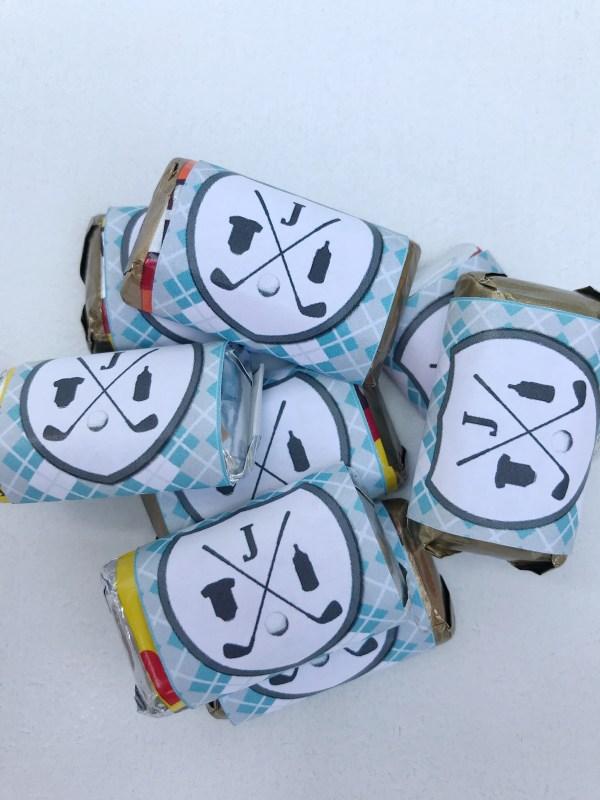 Golf Baby Shower Mini Candy Bar Wrapper