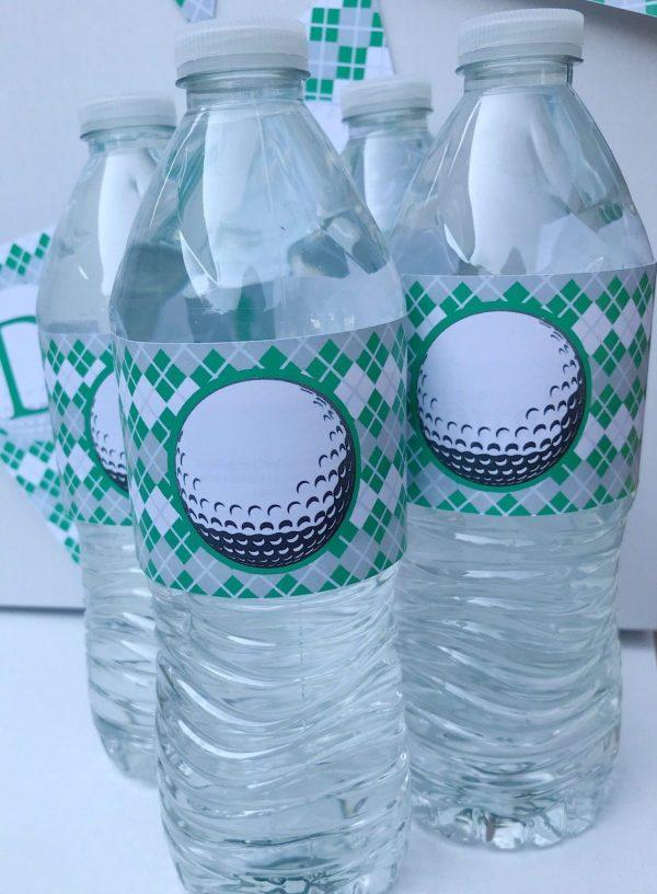 Golf Birthday Water Bottle