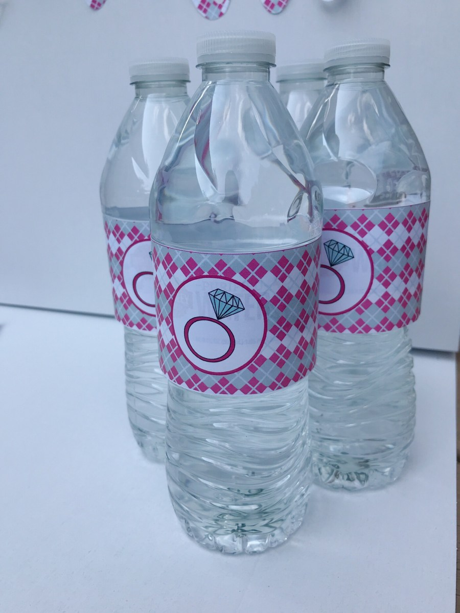 Golf Bridal Shower Water Bottle Labels