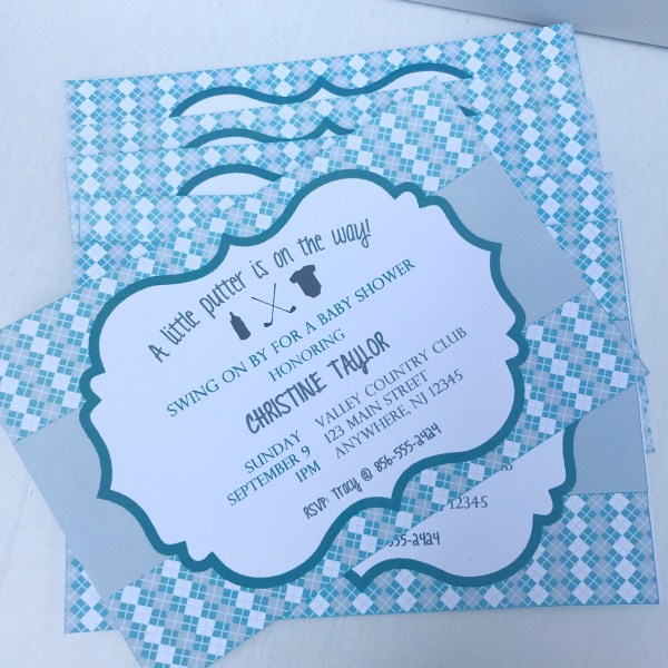 Golf Baby Shower Invitation