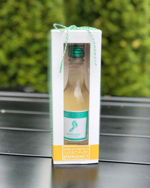 "DIY ""In Case of Emergency"" mini-alcohol gift Teacher Appreciation Week | twoplusmeandyou.com"