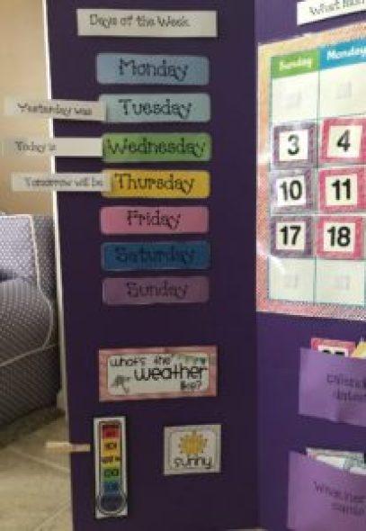 DIY Preschool Calendar | twoplusmeandyou.com