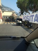 Arriving into Positano - a nail biting experience!