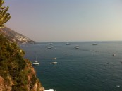 Views from our hotel balcony - Positano