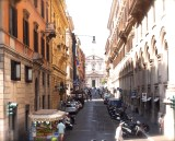A typical street in Rome