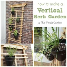 Make Vertical Herb Garden - Two Purple Couches