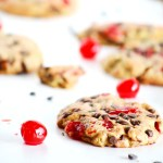 These VEGAN Chocolate Chip CHERRY Cookies are so easy to make and taste like chocolate and cherry sweet-ness! / TwoRaspberries.com