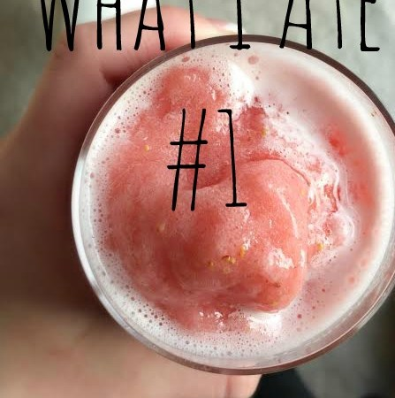 What I Ate # 1 – food inspiration