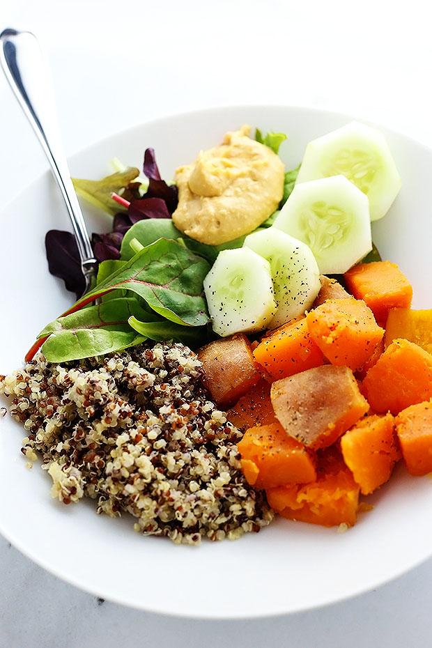 """Clean Healthy Buddha Bowl - I'm getting SUPER """"CLEAN EATING"""" on ya'll! If you appreciate food simple and clean then this recipe is for YOU! ;-) Vegan and Gluten Free!"""