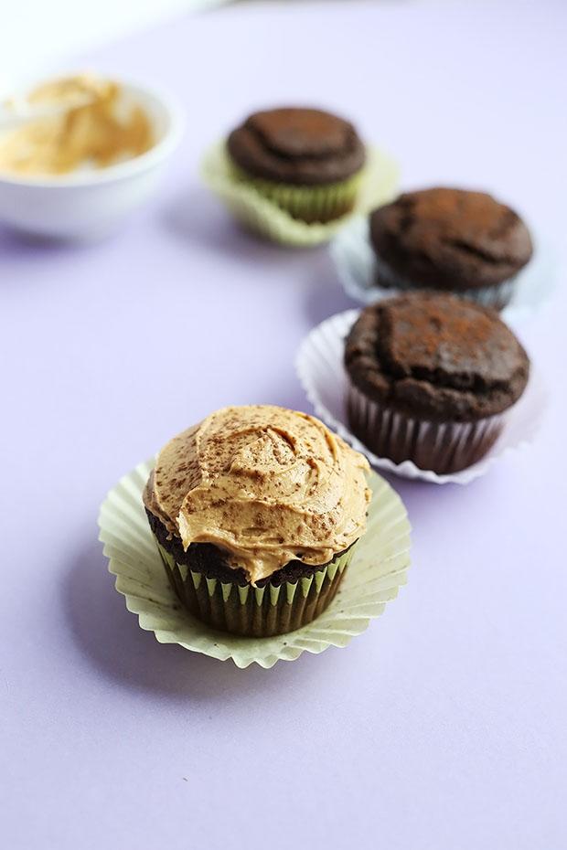 Healthy Vegan Gluten Free Chocolate Cupcakes