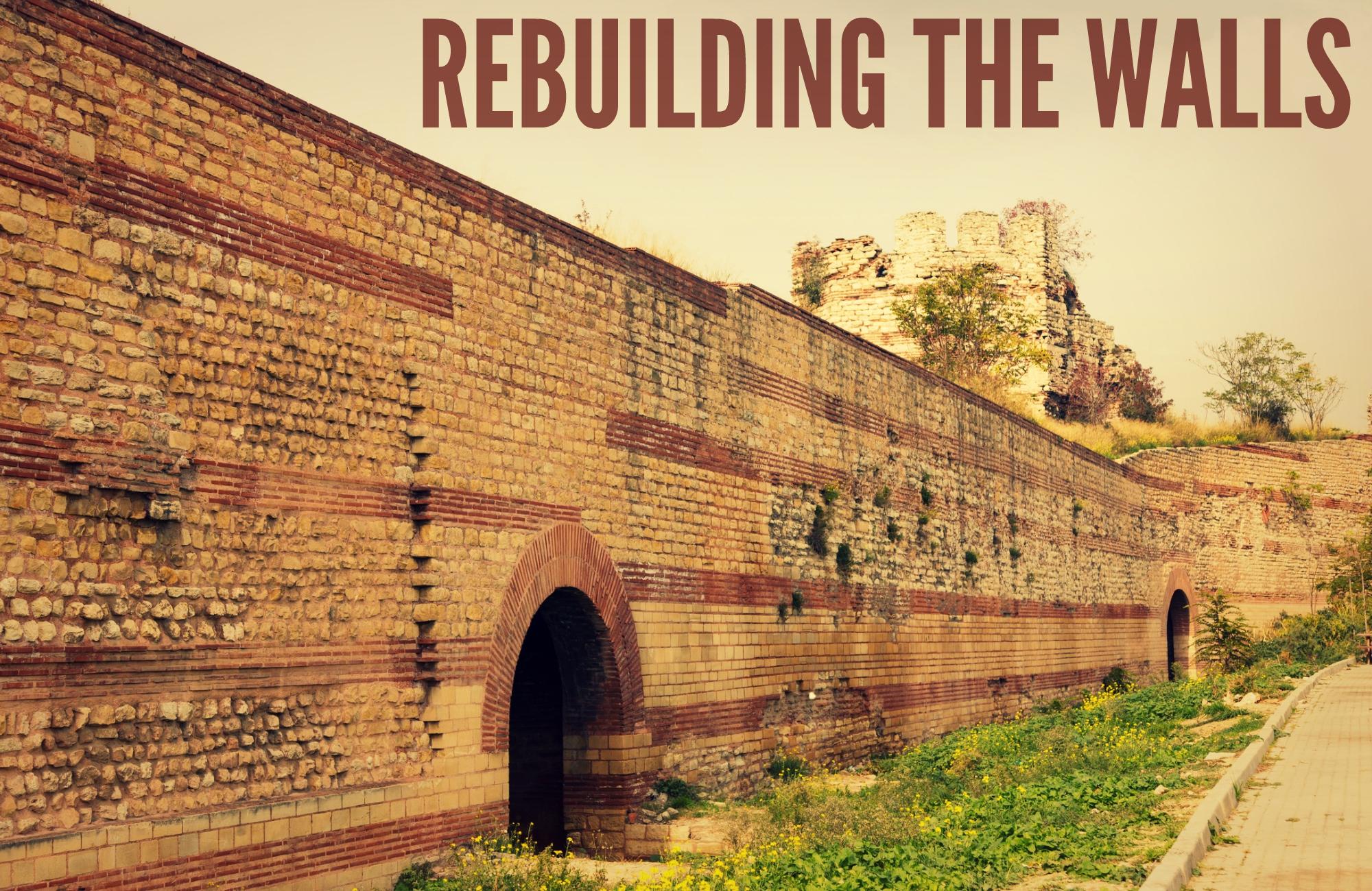 Rebuilding Temple Walls