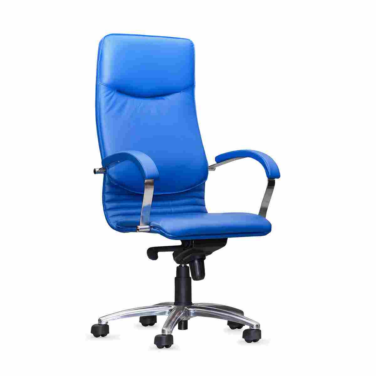 blue leather office chair hanging with base two rivers law group p c 48 00