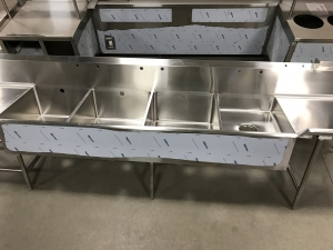 Stainless Steel Quad Wash Sinks