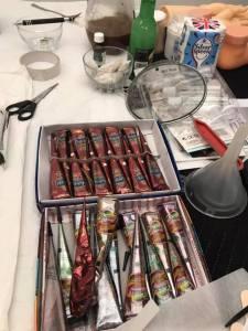 Henna paste tubes