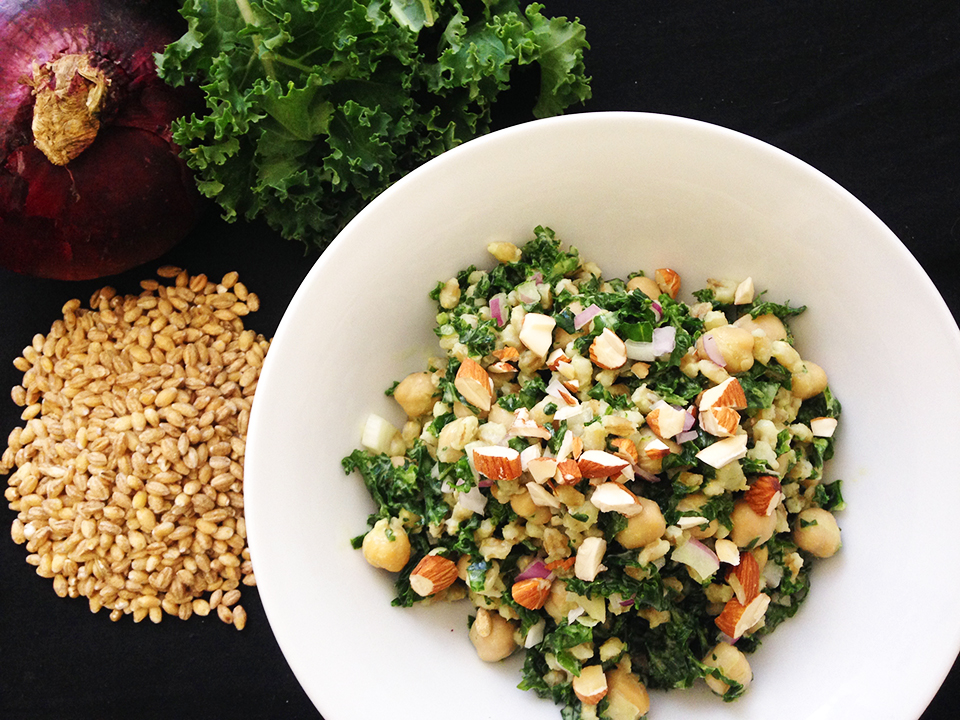 kale barley chickpea salad 31