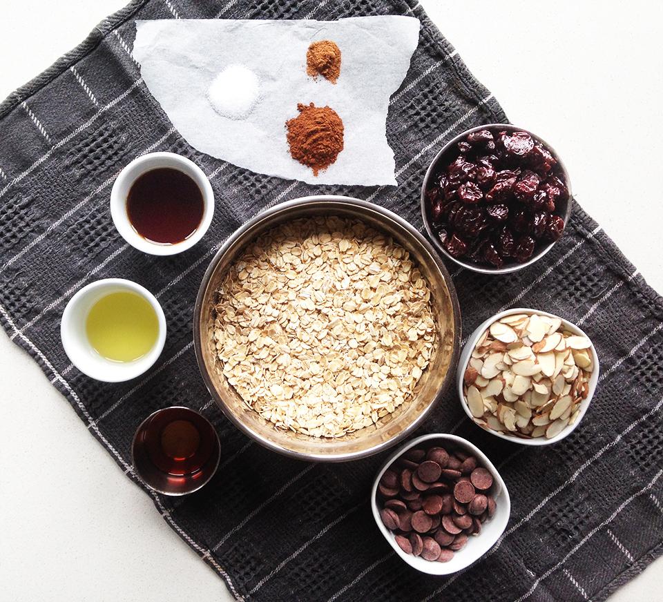 choc cherry almond muesli 1