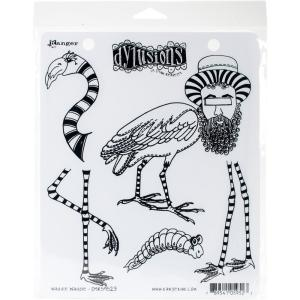 Dylusions Red Rubber Stamp by Dyan Reaveley - WADDLE WADDLE