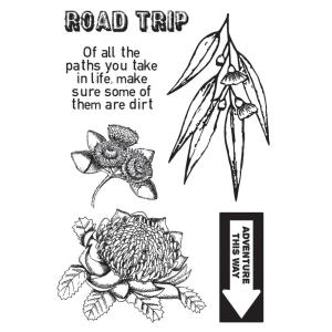 """Kaiser Craft Clear Stamps - ROAD TRIP Acrylic 6"""" X 4"""" Stamp"""