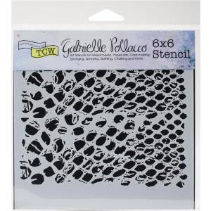 TCW Gabrielle Pollacco 6x6 Stencil - BUBBLE WRAP