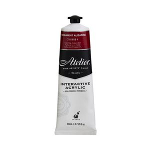 Atelier Interactive Artists Acrylic Paint 80ml- PERMANENT ALIZARINE Series 4