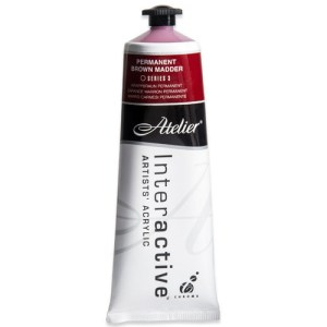 Atelier Interactive Artists Acrylic Paint 80ml- PERMANENT BROWN MADDER Series 3