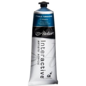 Atelier Interactive Artists Acrylic Paint 80ml- PTHALO TURQUOISE Series 2