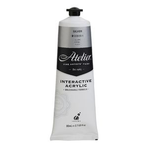 Atelier Interactive Artists Acrylic Paint 80ml- SILVER Series 4