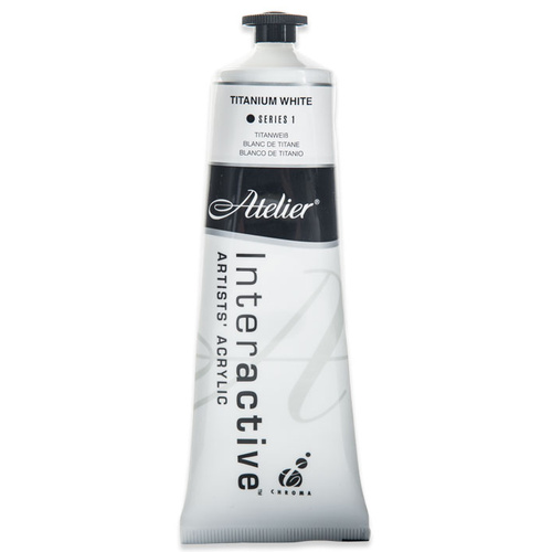 Atelier Interactive Artists Acrylic Paint 80ml - TITANIUM WHITE Series 1