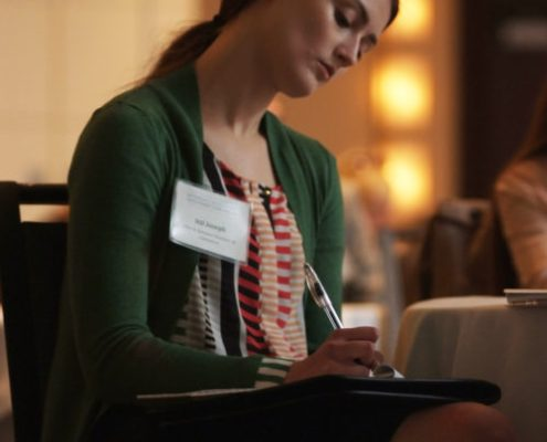 Attendee at the Pure Michigan Statewide Educational Program.