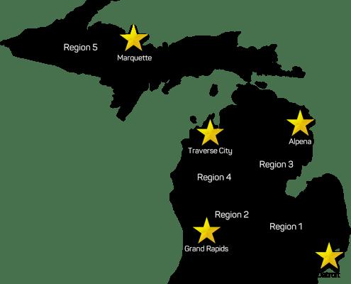 Regional Seminar Location Map