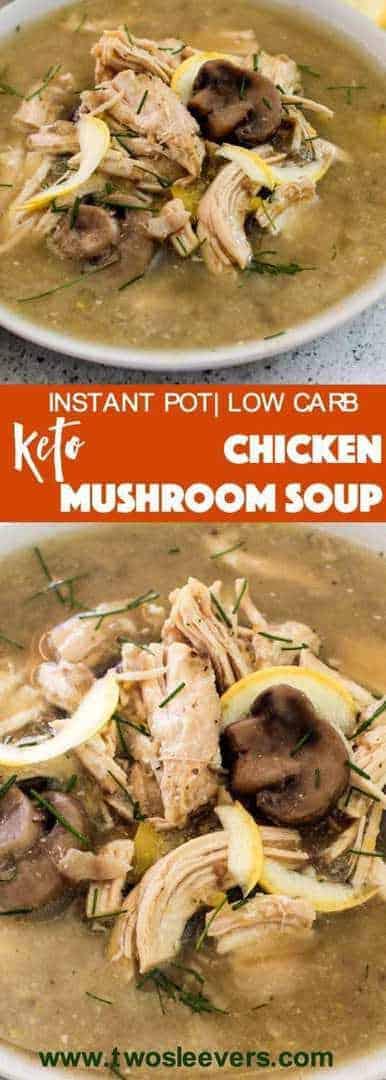 Pressure Cooker Keto Chicken Mushroom Soup Two Sleevers