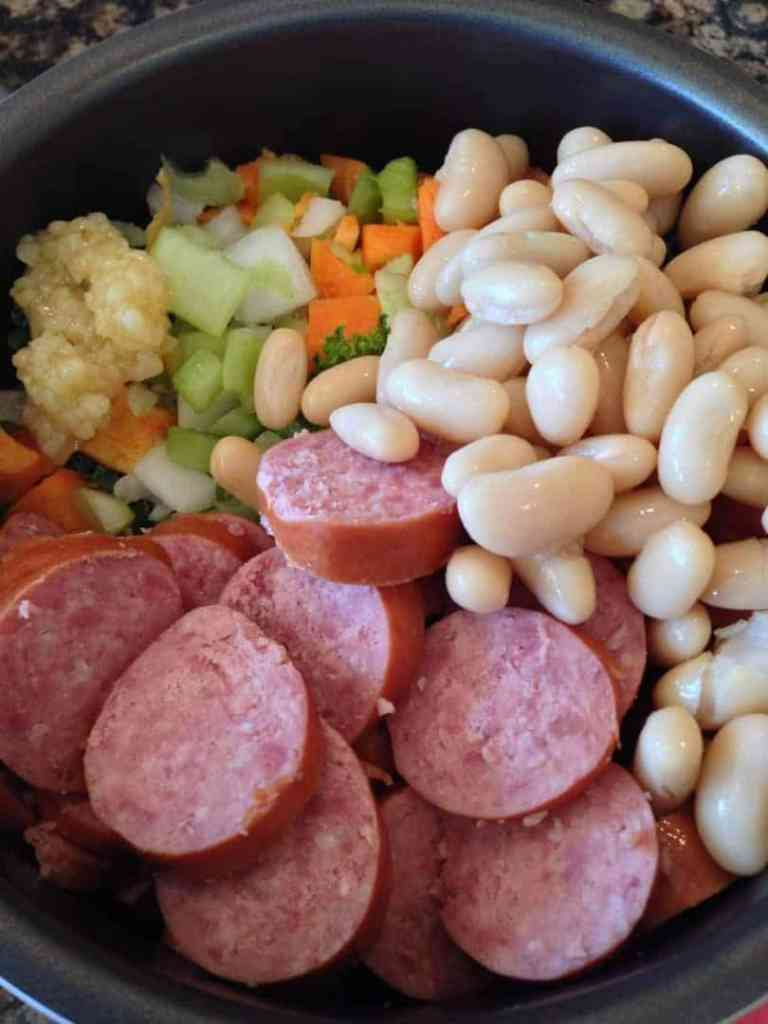 Kale Sausage and Bean Soup www.twosleevers.com