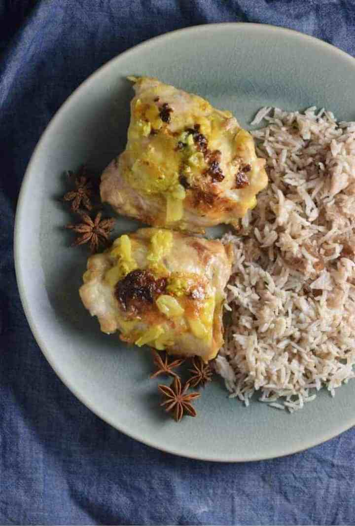 Indian Style Baked Chicken Thighs