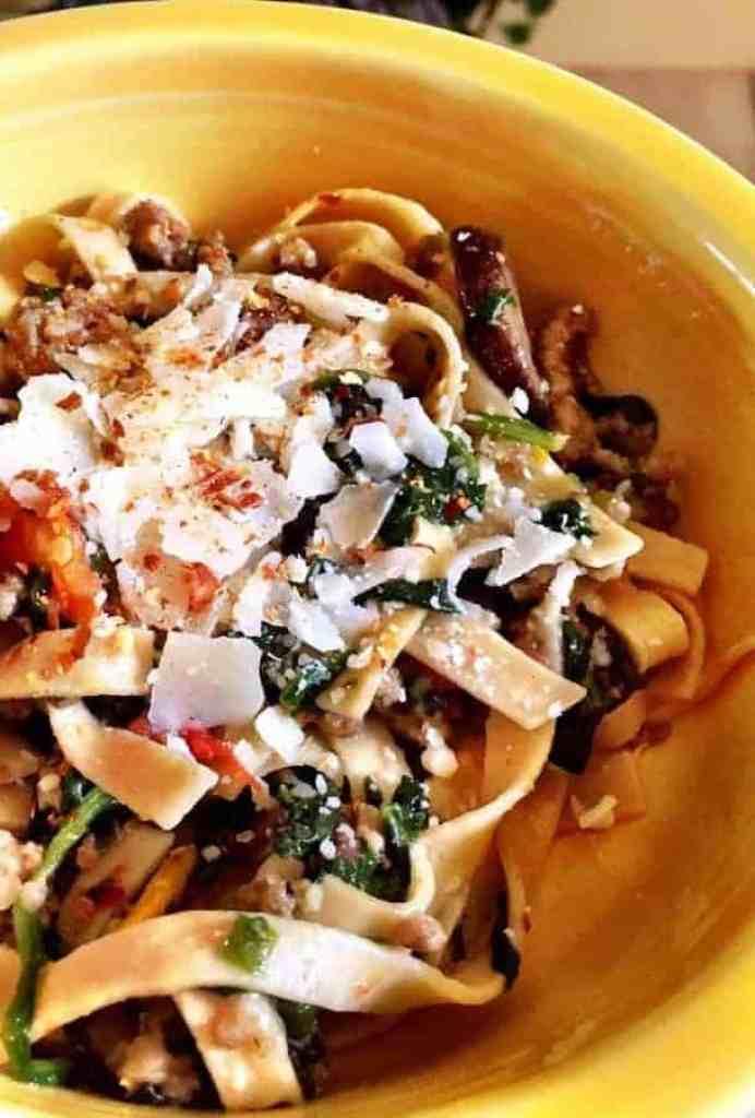 Low Carb Sausage & pasta