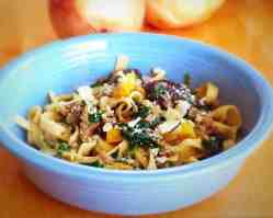 Pasta with Sausage, Veggies and Cheese
