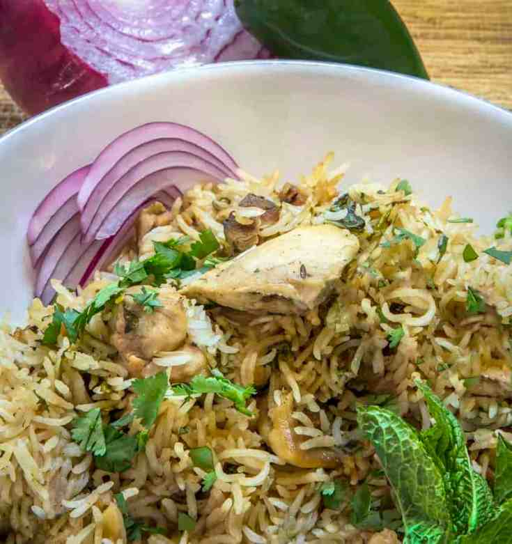 Instant Pot Pressure Cooker Chicken Biryani